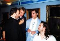 gerry-stickels-roger-taylor-freddie-mercury-and-bob-geldof-in-1990