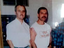 Freddie in Musicland Studio 1984
