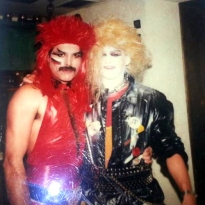Freddie in middle 80's at party