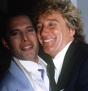 Freddie Mercury & Rod Stewart (1990)