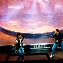 Freddie Mercury performs alongside Cliff Richard in the musical Time1